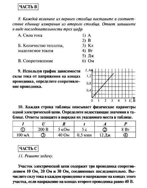 Контрольная работа № Кр класс Контрольные работы по физике  Контрольные работы в НОВОМ формате